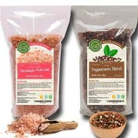 Four Peppercorns Blend & Himalayan Pink Salt (Coarse Grain) 2 lbs