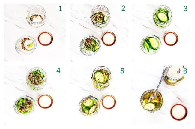 collage picture of how to make beer pickles