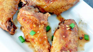 Sticky Asian Oven Baked Chicken Wings