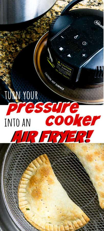 overhead picture of food in air fryer