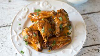 Crispy Baked Sweet Hot Chicken Wings