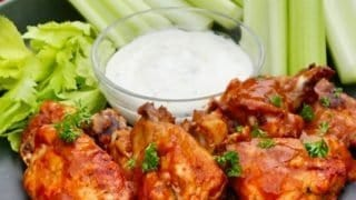 Instant Pot Chicken Wings and Drumettes | With Blue Cheese Dressing
