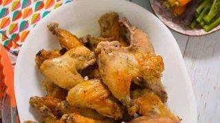 Lemon and oregano baked chicken wings