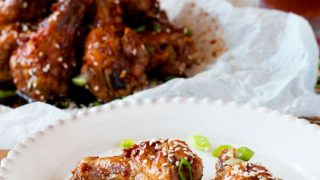 Oven Baked Sweet and Spicy Asian Chicken Wings