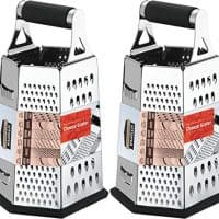 Cheese Grater for Kitchen Stainless Steel 6-Sides