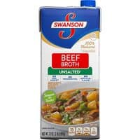 Swanson Unsalted Beef Broth, 32 oz.