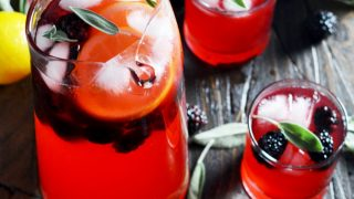 Boozy Blackberry Sage Lemonade