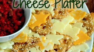Make An Easy Autumn Leaf Wreath Cheese Platter