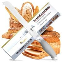 Serrated Bread Knife, Ultra-Sharp Stainless Steel