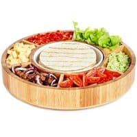 Rotating Appetizer Serving Platter - Bamboo Wood