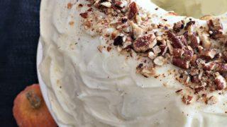 Cinderella Cake - Pumpkin Bundt Cake with Cream Cheese Frosting