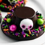 Día de Muertos Chocolate Hats on a platter