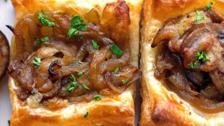 Gruyere Mushroom & Caramelized Onion Bites Recipe