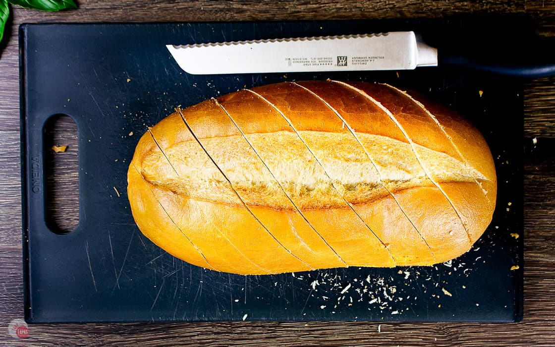 slice the bread loaf