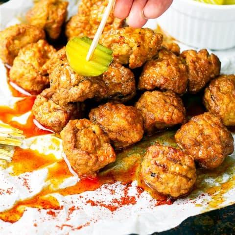 Crock Pot Nashville Hot Chicken Meatballs