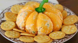 Pumpkin-Shaped Cheeseball
