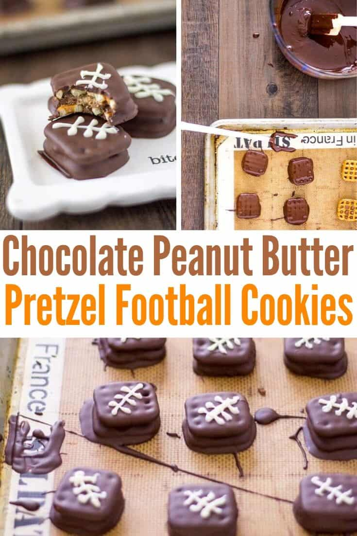 pinterest collage for football cookies
