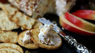 Apple Cheddar Cheese Ball: Easy Holiday Appetizers