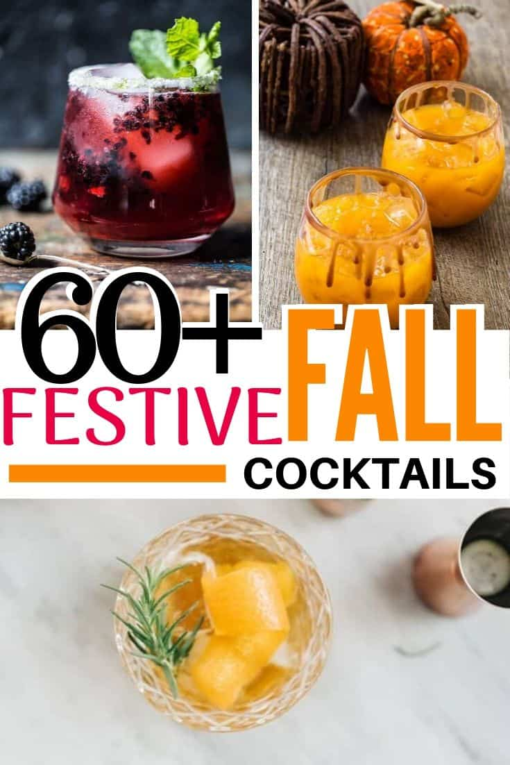 pinterest collage for festive fall cocktails