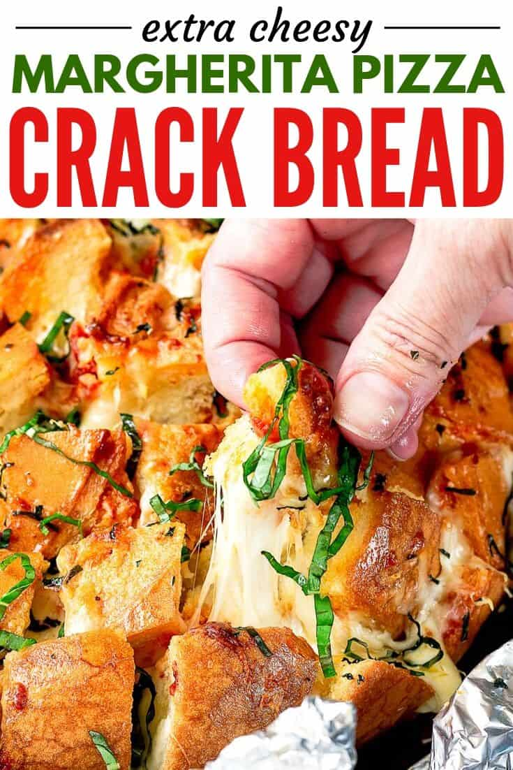 pinterest image of pull apart bread