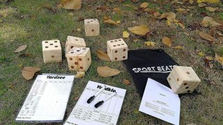 Giant Yard Dice Set of 6,Wooden