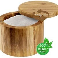 Salt or Spice Box with Lid, Bamboo