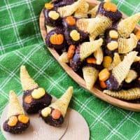 Chocolate Dipped Dulce de Leche Bugles - Mini Cornucopias