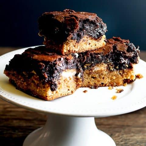 Peanut Butter Oreo Brownie Bars