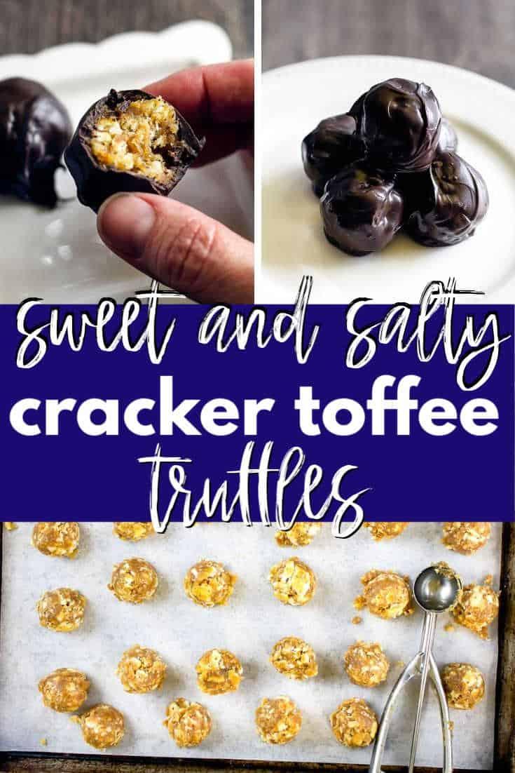 pinterest collage for cracker truffles
