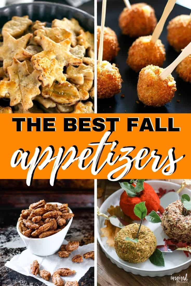 pinterest collage for fall party appetizers