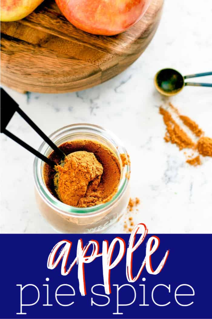 "Pinterest image with text ""apple pie spice"""