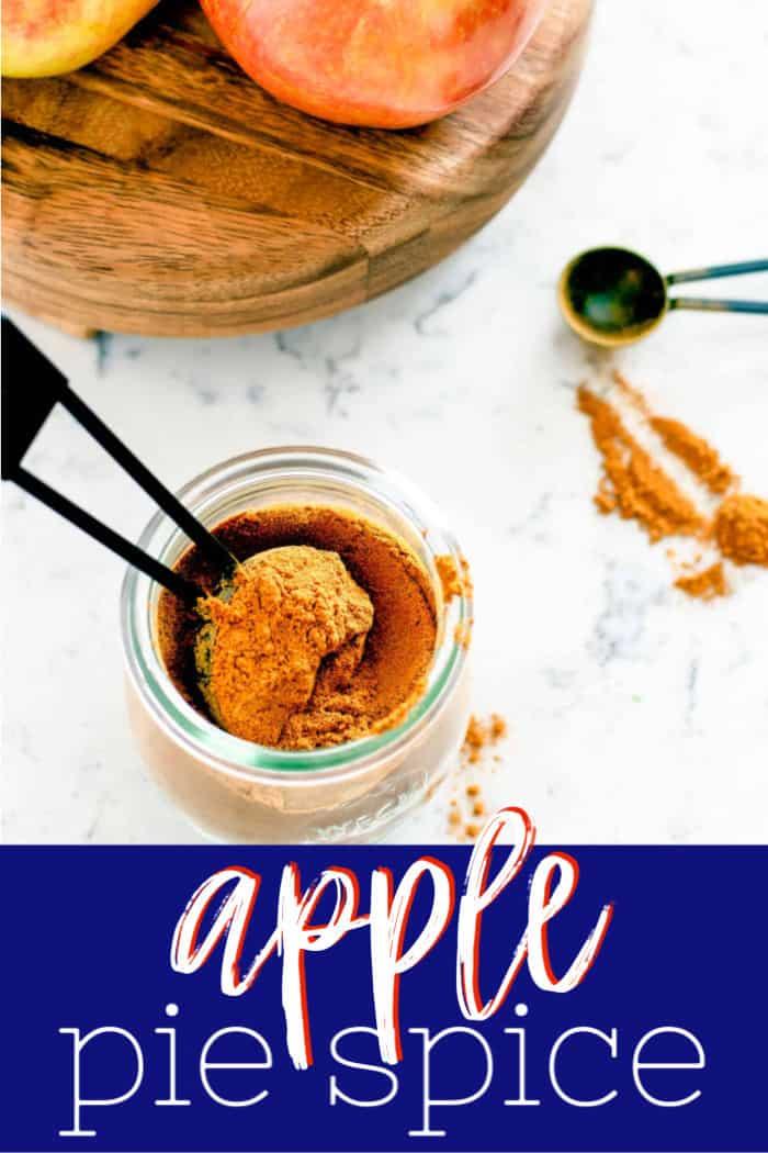pinterest image of apple pie spice