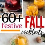collage of fall cocktails