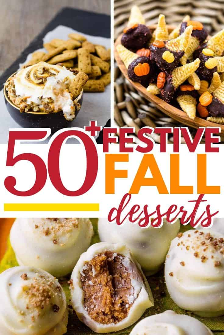 Pinterest Image of fall desserts round up