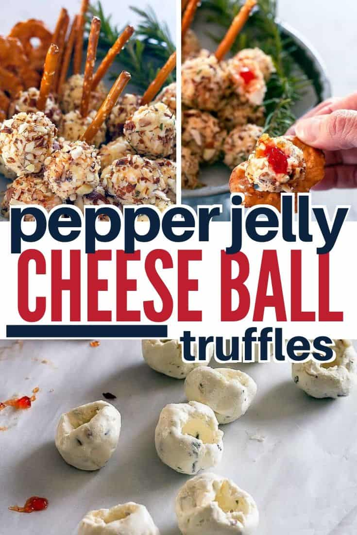 Pinterest image for mini cheese balls