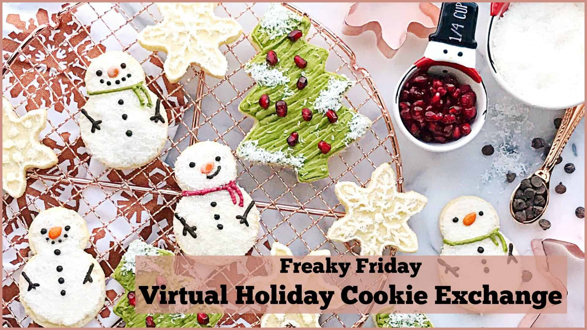 banner for the Freaky Friday Holiday Cookie Exchange event
