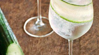 Cucumber Spritz: vodka, vermouth, tonic, cucumber