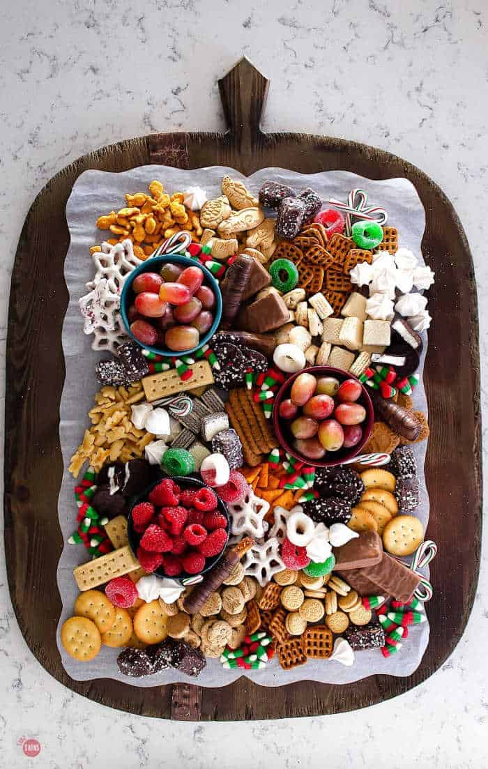 Christmas Snack Platter Dessert Board For Kids And Adults