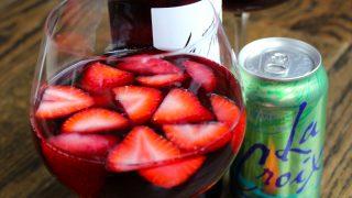 Skinny Strawberry Sangria