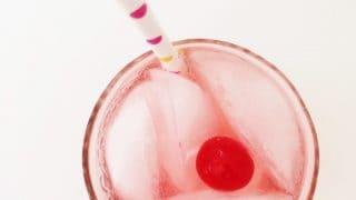 Cherry Lime Sparkle Cocktail