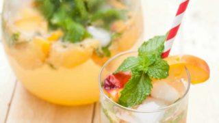 5 Ingredient Skinny Peach Mojitos