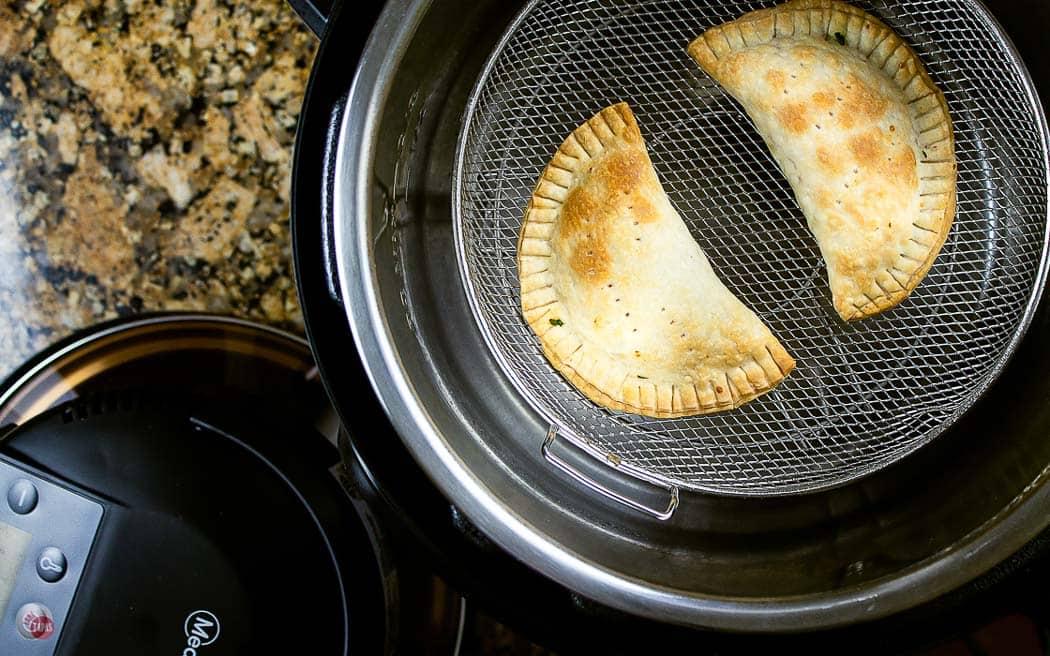 empanadas brown in an air fryer