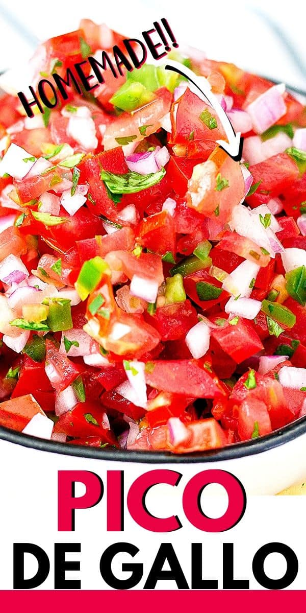 "close up of fresh pico with text ""pico de gallo"""