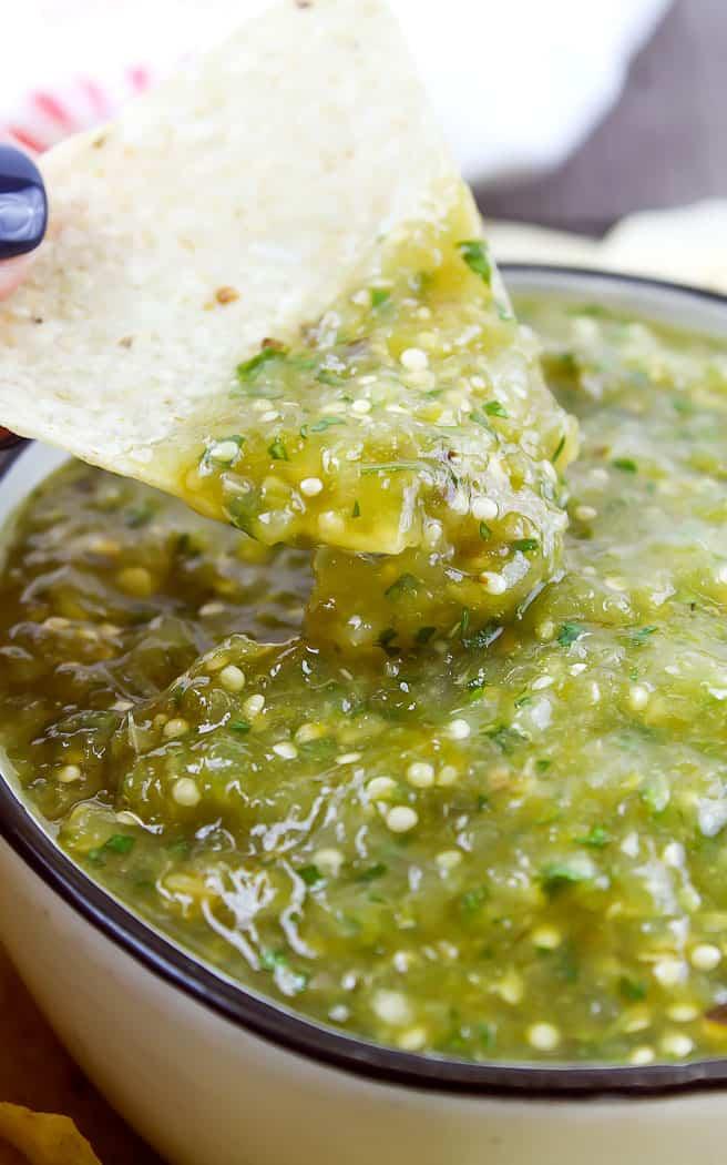 Easy Salsa Verde – Homemade Green Salsa
