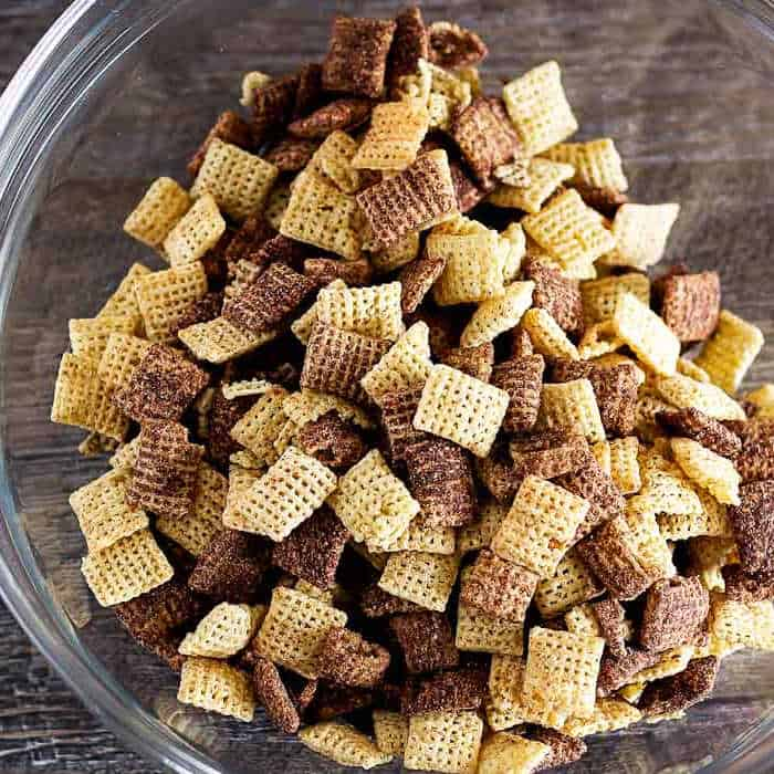 chex cereal in bowl