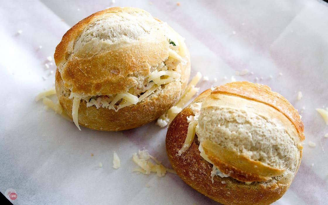 mini bread rolls stuffed