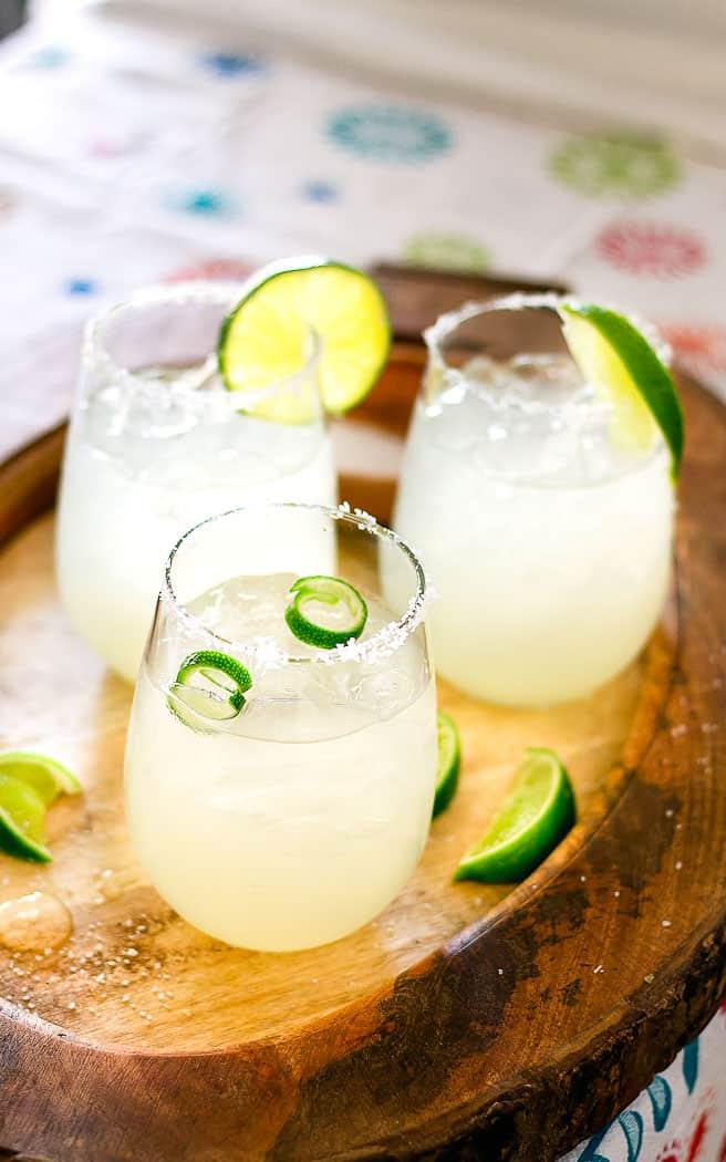 3 glasses of margaritas
