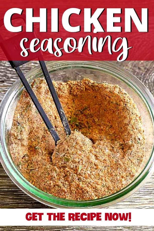 pinterest image for chicken seasoning