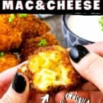 pin image for deep fried mach and cheese balls