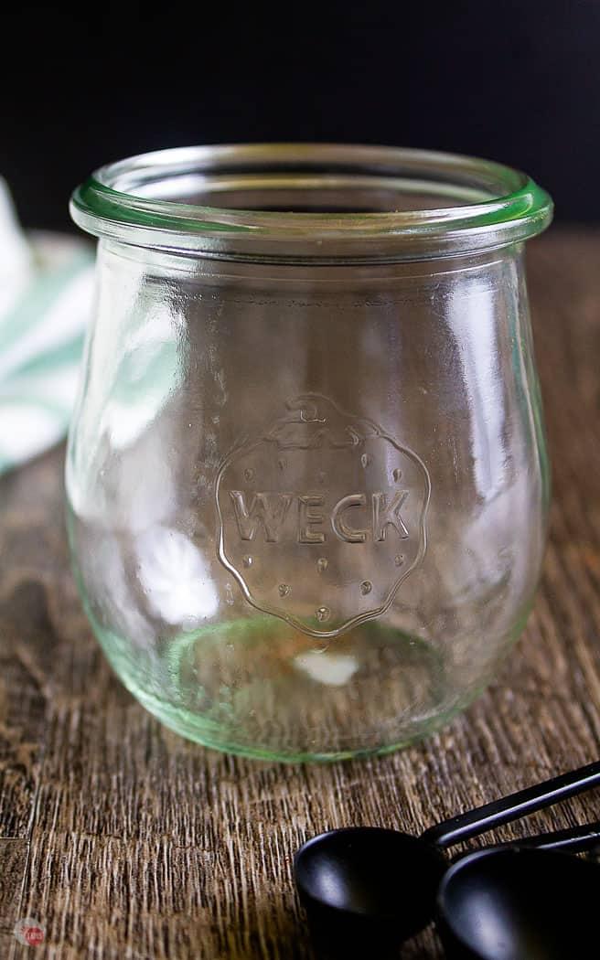 empty clear jar
